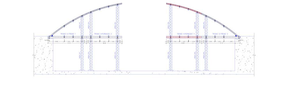 Fase 4: Ejecución de tramo intermedio Nº 4 y unión con tramo extremo Nº 2.