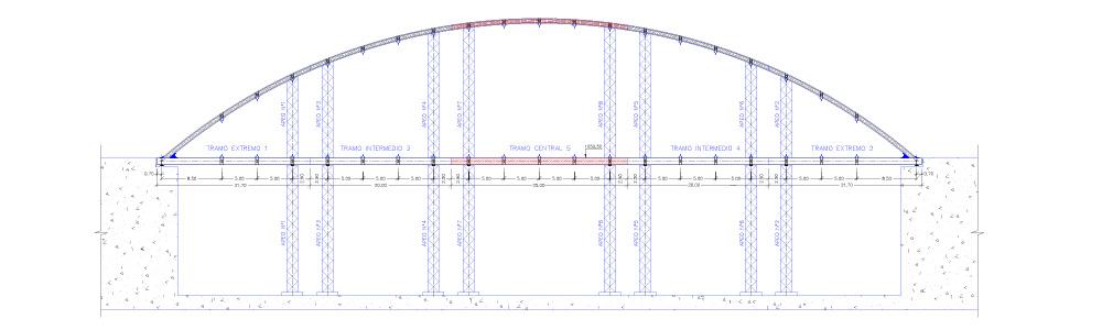 Fase 5: Ejecución de tramo central y unión con tramos intermedios Nº 3 y 4.